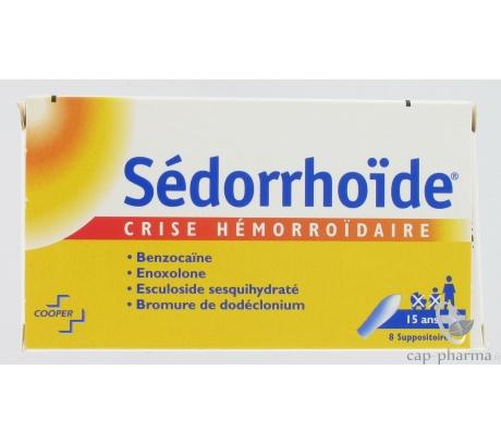 SEDORRHOIDE CRISE HEMORROIDAIRE suppos : Plq/8 - Pharmacie