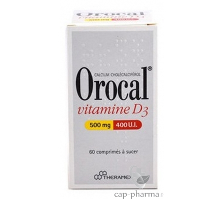 OROCAL VIT D3 500MG/400UI CPR 180