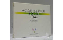 ACIDE FOLIQUE CCD 0.4MG CPR 30