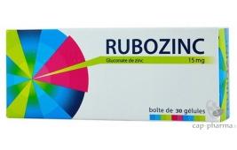 RUBOZINC 15MG G L B/30