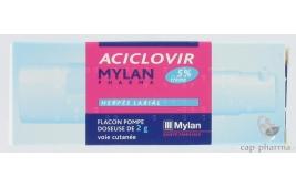 ACICLOVIR MYLAN 5% CR FL POMPE 2G