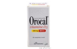 OROCAL VIT D3 500MG/200UI 60CP