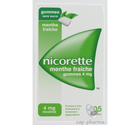 NICORETTE 4MG GOM MEN FRAIC / 30