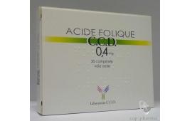 ACIDE FOLIQUE CCD 0.4MG CPR 30