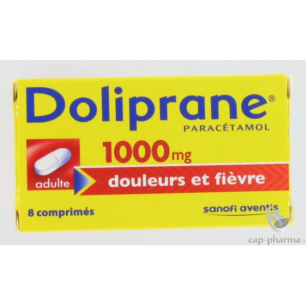 doliprane 1000 mg cp b 8 pharmacie. Black Bedroom Furniture Sets. Home Design Ideas