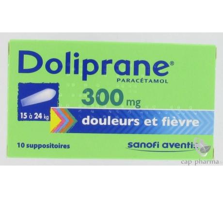 DOLIPRANE 300MG SUPPO/10 (15-24KG)