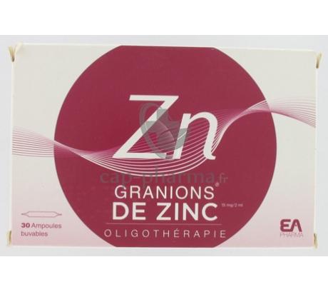 GRANIONS ZN S BUV B/30AMP/2ML